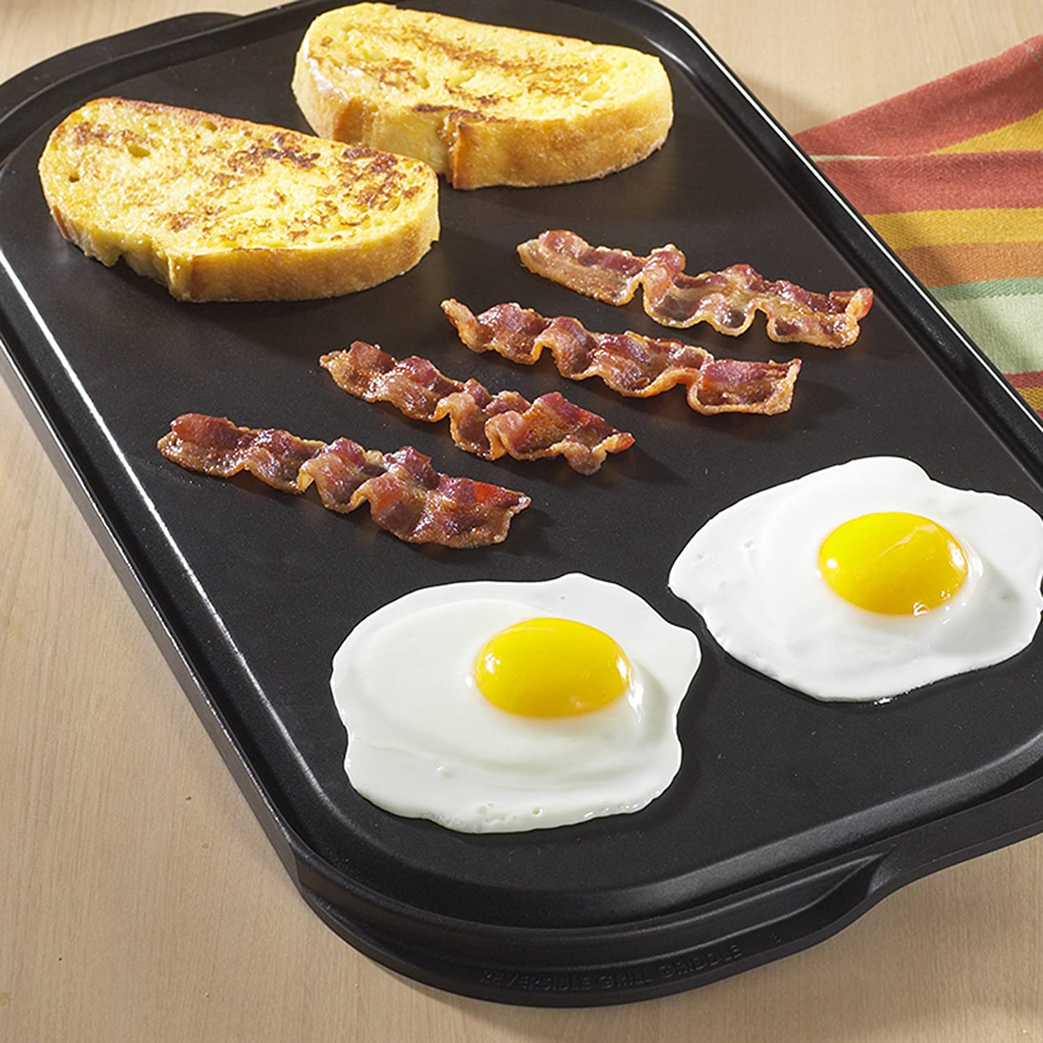 Nordic Ware Pro Cast Flat Top Reversible Grill Griddle Amazon