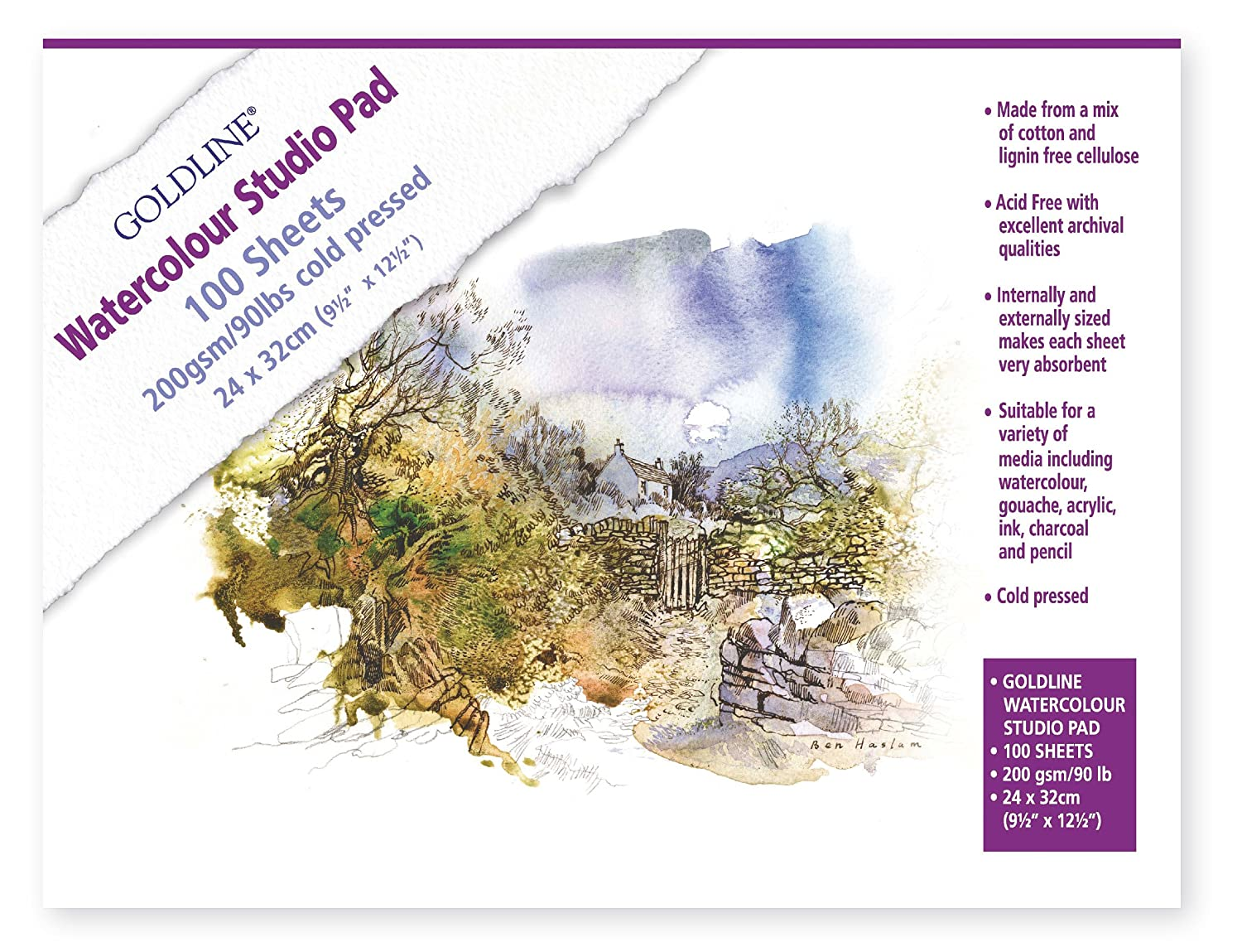 Purple Acid Free Thick Card A4 200gsm 21 Sheets