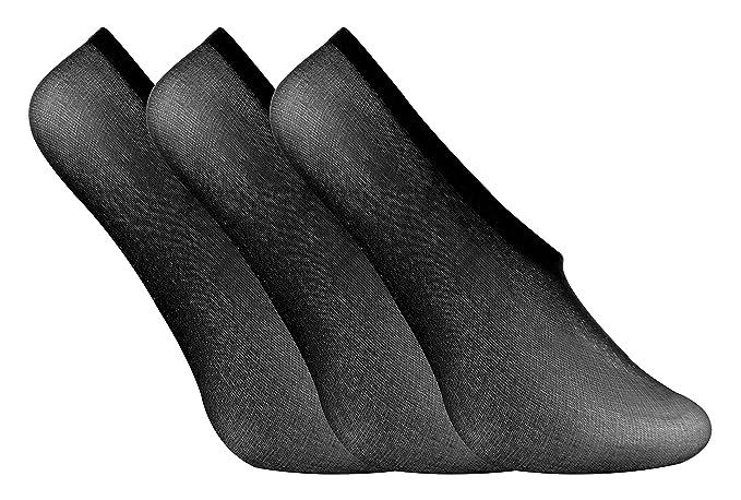 Multipack Ladies Women WHITE Invisible Non Slip Liner Socks Size UK 4-7