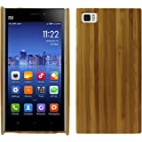 Heartly Handmade Natural Wooden Bamboo Hard Armor Hybrid Bumper Best Back Case Cover For Xiaomi Miui Mi3 Mi 3 - Light Brown