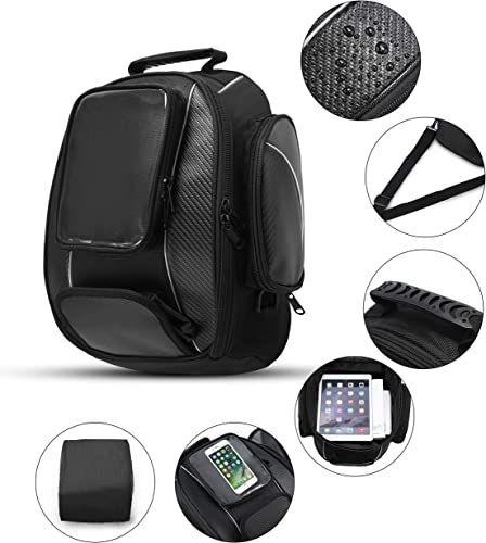 Motorcycle Tank Bag Waterproof with Strong Magnetic Motorbike Bag for Honda Yamaha Suzuki Kawsaki Harley Large