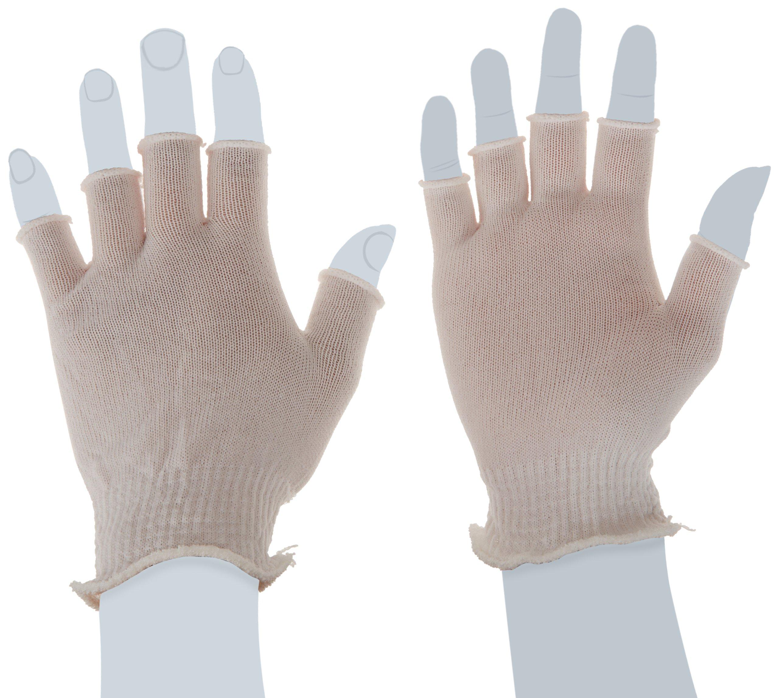 Berkshire BCR Polyester Half-Finger Glove Liners, Regular Bulk Size (Bulk Pack of 200 Pairs)