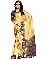 Mimosa By Kupinda Women's Art Silk Saree Kanchipuram Style (Latest Designer Sarees /Party wear sarees /New collection sarees) (4154-255-2D-CNDN-NVY) Color: Peach