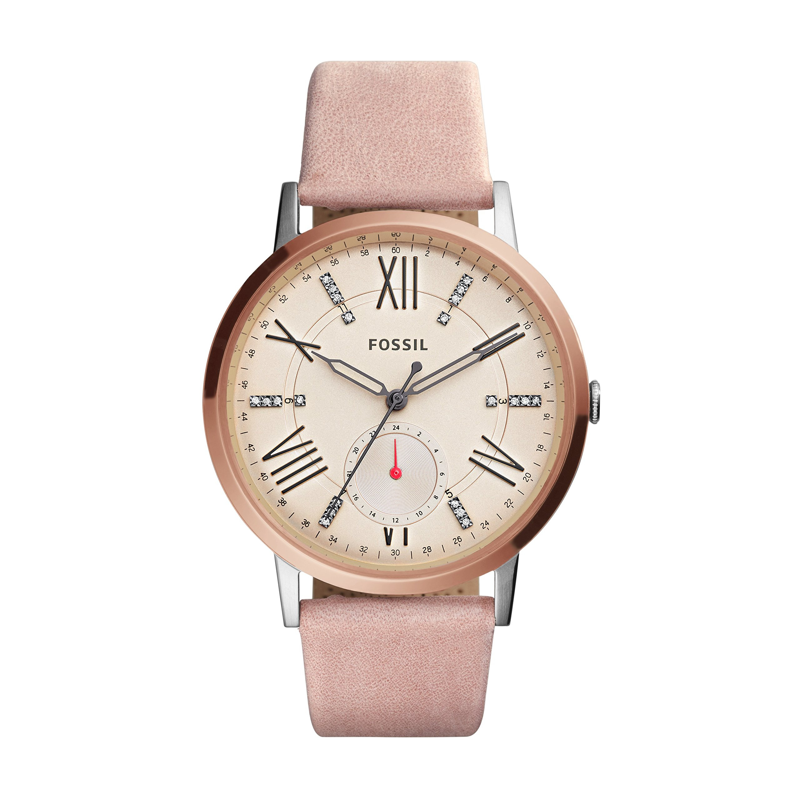 Fossil Women's ES4163 Gazer Multifunction Blush Leather Watch