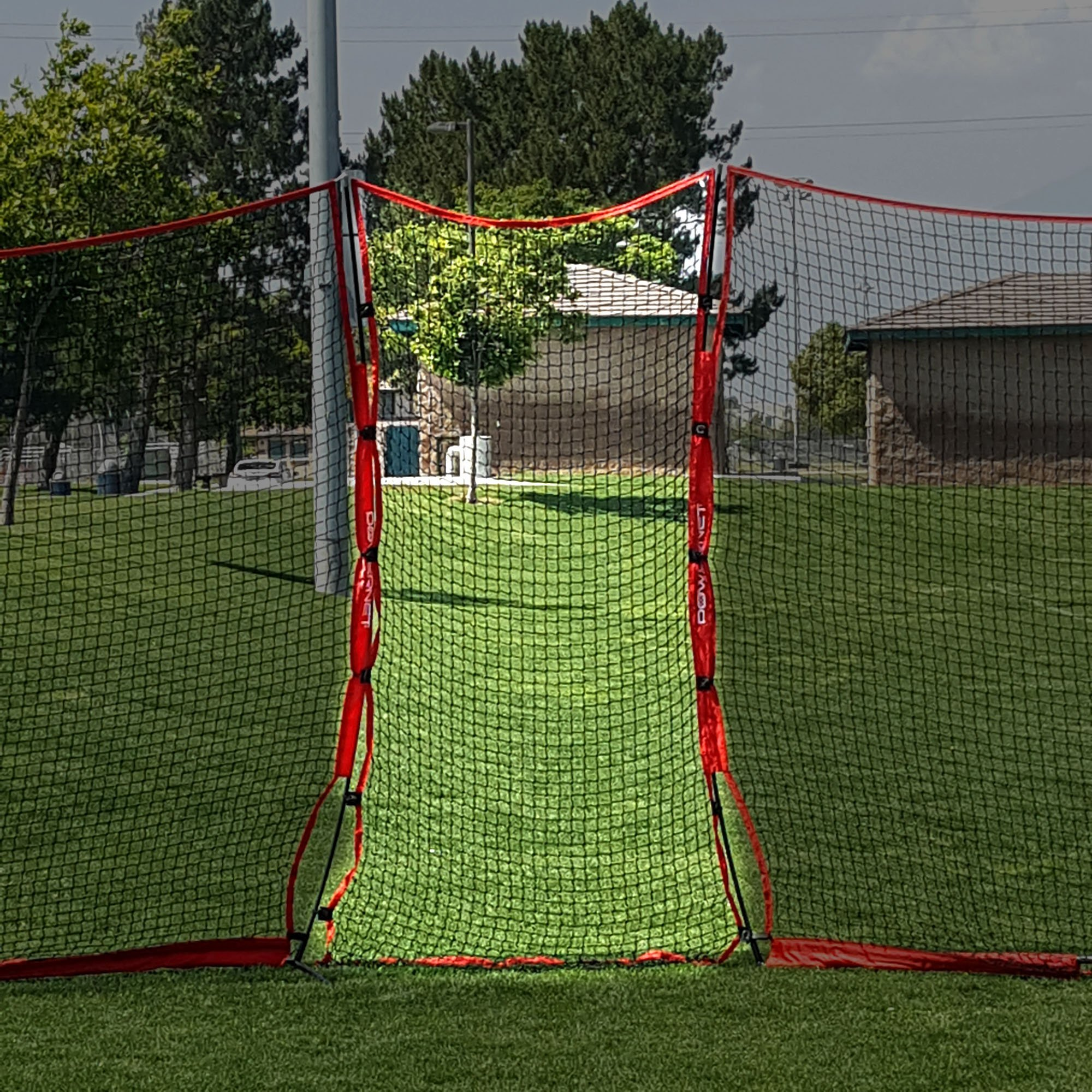 PowerNet Connector for 12X9 Barrier Nets (4.5x9 EXTENDER NET ONLY) | for Baseball and Lacrosse | 40 SQFT of Additional Protection | Safety Backstop | Portable EZ Setup | Durable Knotless Netting