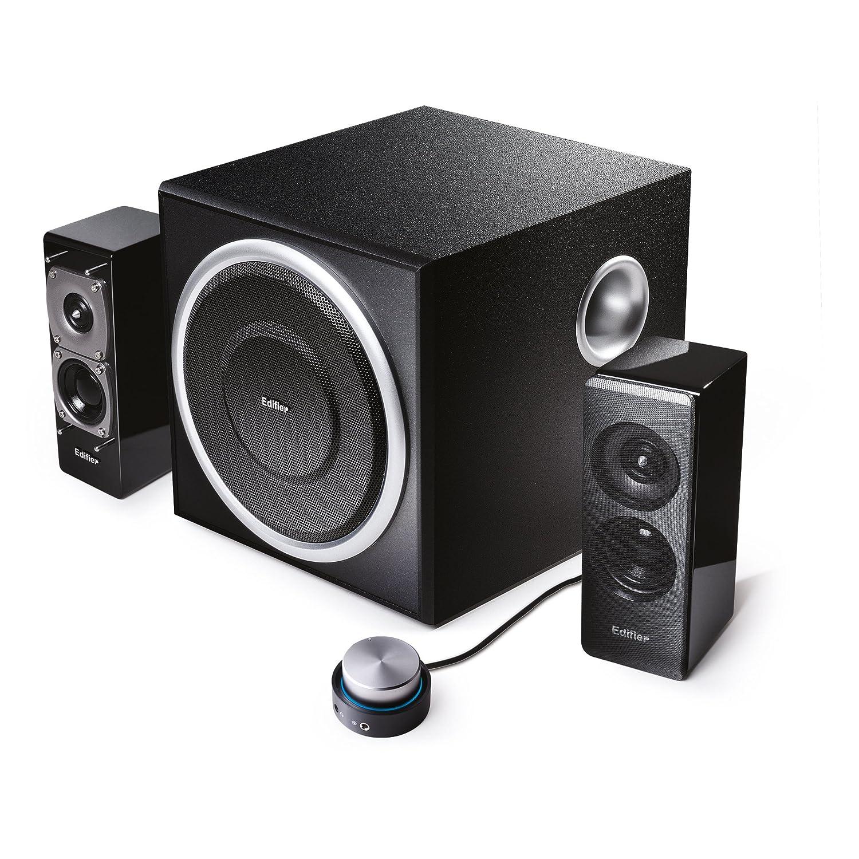 EDIFIER S330D 2.1 Lautsprechersystem/ pc-lautsprecher (72 Watt) mit Kabelfernbedienung, schwarz S330D black