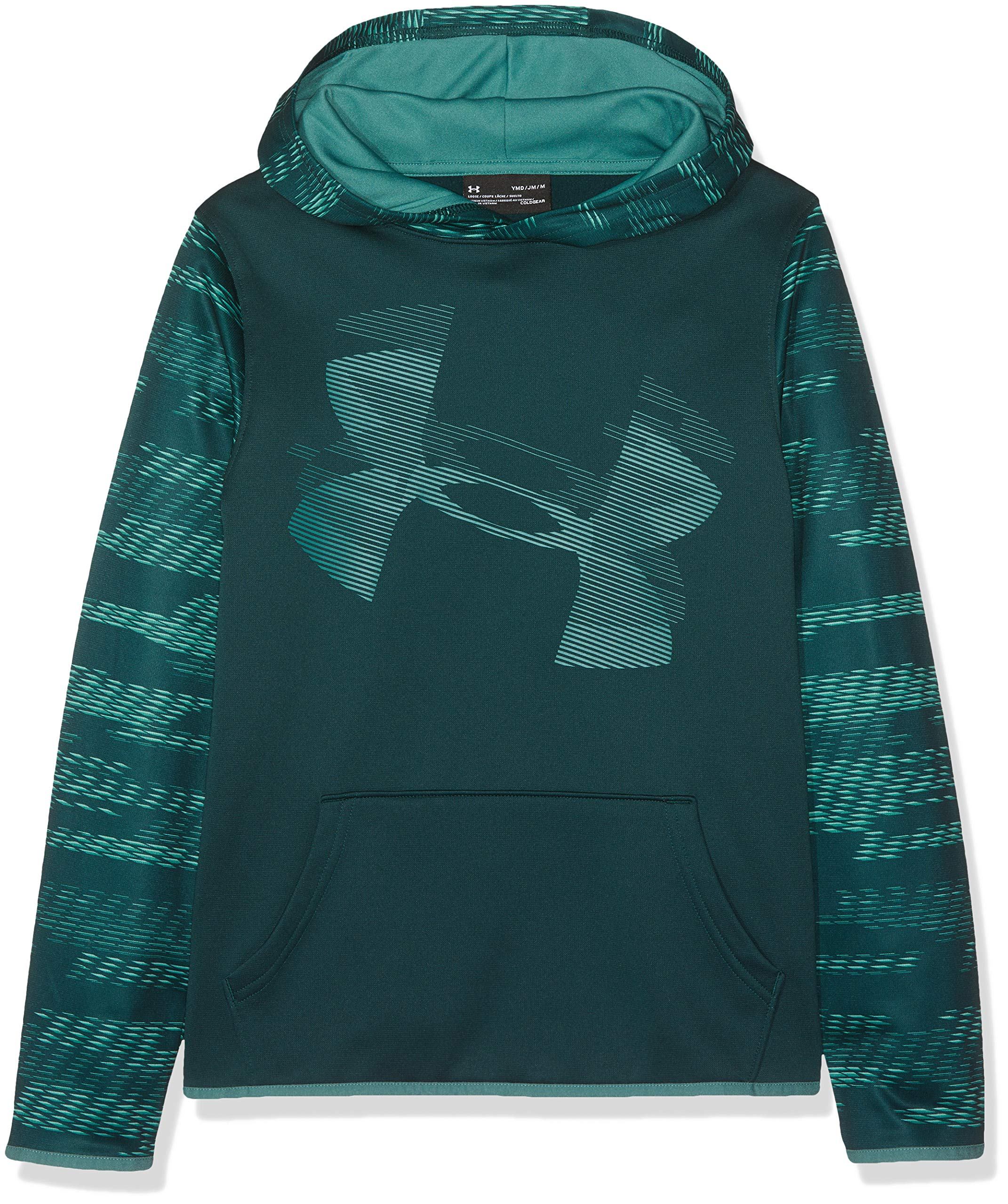 Under Armour Kids Boy's AF Highlight Sleeve Hoodie (Big Kids) Batik/Dust Large by Under Armour