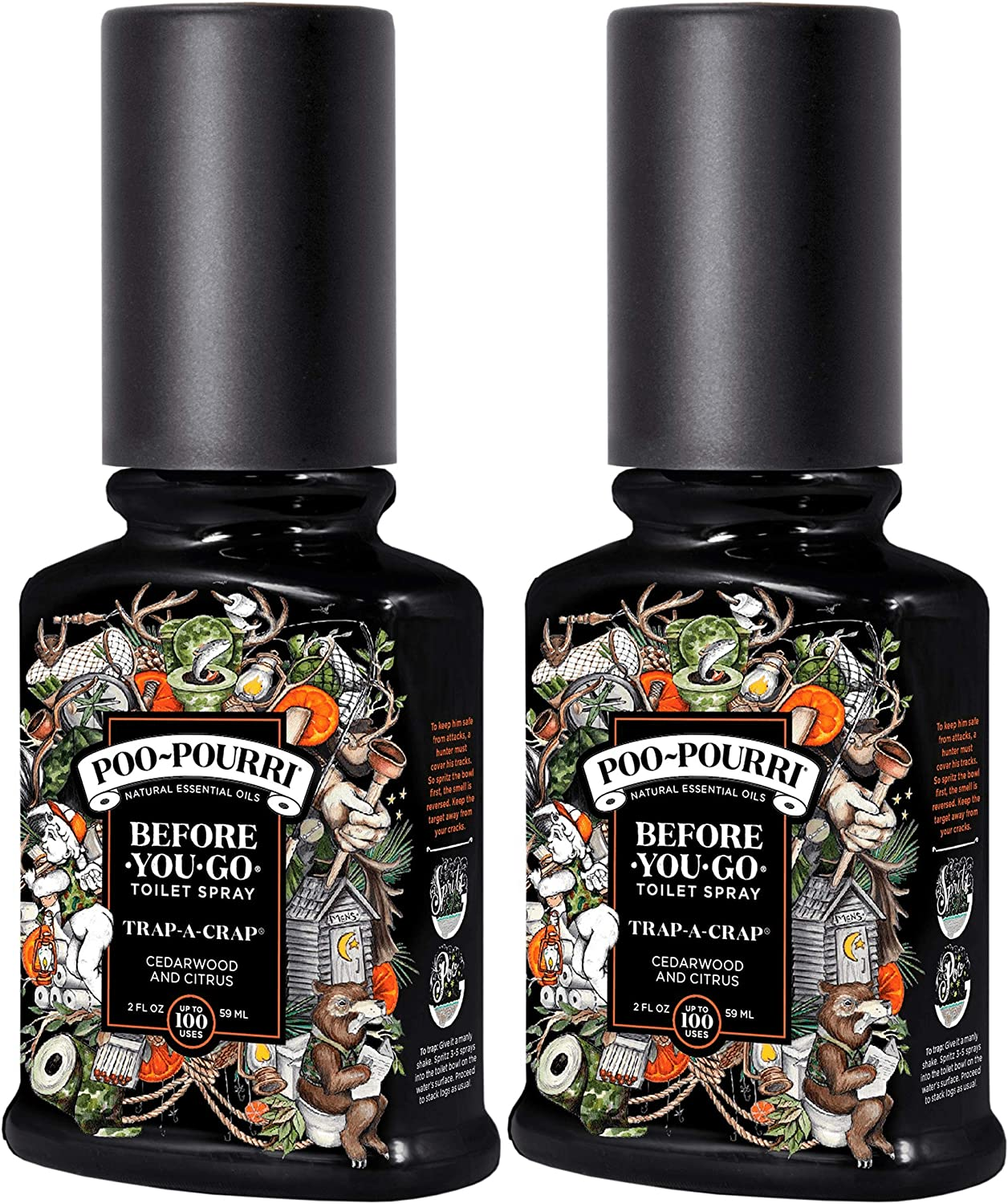 Poo-Pourri Before You Go Toilet Spray Trap A Crap 2 Ounce, 2 Pack