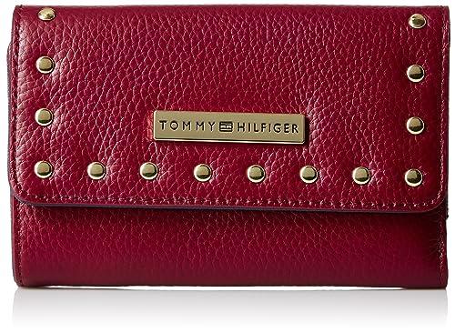 Tommy Hilfiger - Cartera para mujer mujer rojo cabernet: Amazon.es: Zapatos y complementos