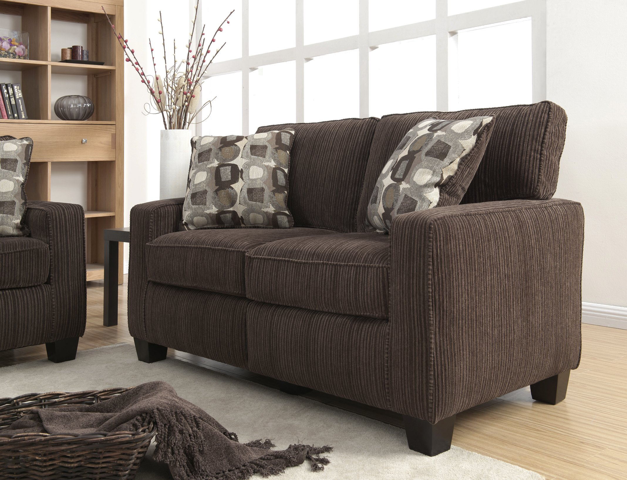 Serta RTA Palisades Collection 61'' Loveseat in Riverfront Brown by Serta (Image #1)