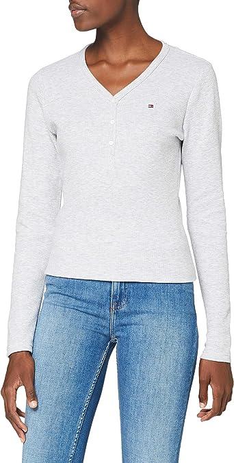 Tommy Hilfiger LS Henley Camisa para Mujer