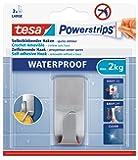 Tesa 59707-00000-01 Powerstrips Waterproof Zoom Gancio Adesivo, Metallo
