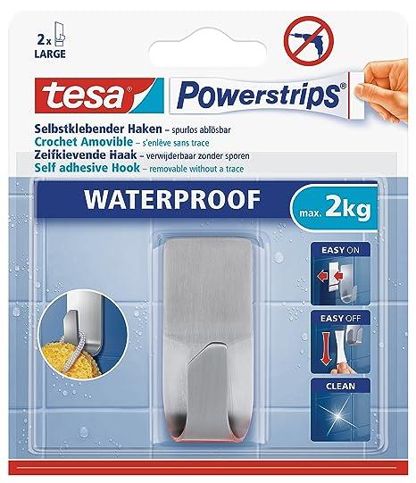 Tesa Powerstrips Waterproof Stainless Steel Hook Amazonin Home
