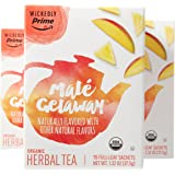 Wickedly Prime Organic Tea, Maté Getaway Premium Tea Sachets, 15 Count (Pack of 3)