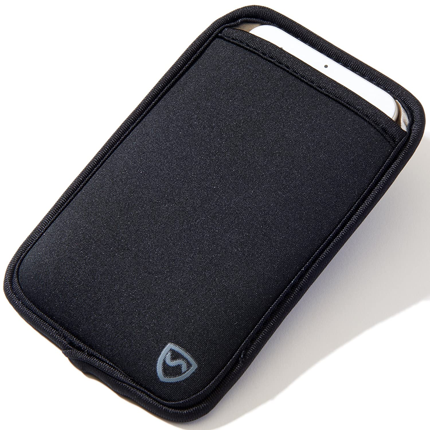 """SYB Phone Pouch, Cell Phone EMF Protection Holster Sleeve Phones up to 3.25"""" Wide Belt Hoop"""