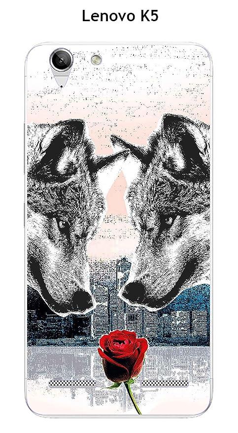 Carcasa Lenovo K5 DESIGN corazón de lobo: Amazon.es: Electrónica