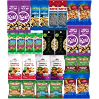 Nuts Snack Packs - Mixed Nuts and Trail Mix Individual Packs - Healthy Snacks Care Package (28 Count)