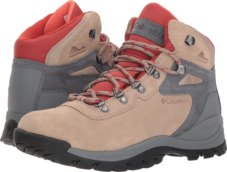 Columbia Women's Newton Ridge Plus Waterproof Amped Wide Hiking Boot B0787JNGQT 8 W US|Oxford Tan, Flame