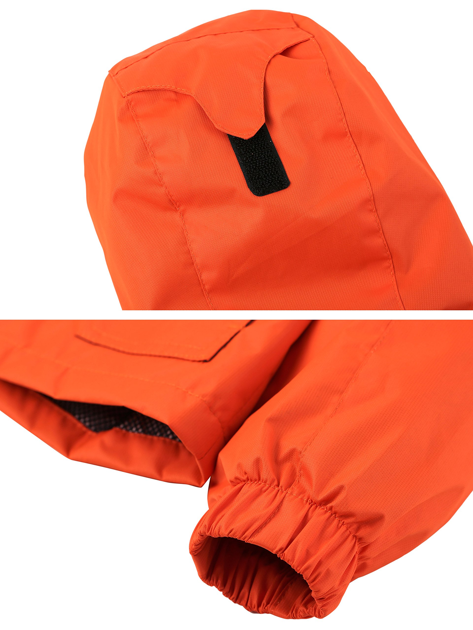 Wantdo Boy's Ultra Light Packable Travel Jacket Outdoor Windcheater Zipped Hoodies for Traveling(Lily Orange Yellow, 14/16) by Wantdo (Image #6)