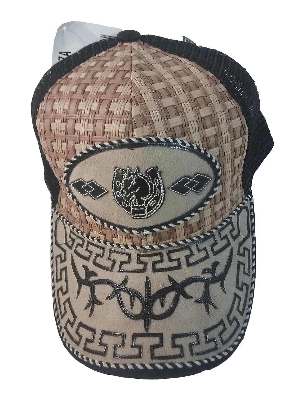 Gorra Charra Western Cowboy ID 103 GOX2 Negro/Beige at Amazon Mens Clothing store: