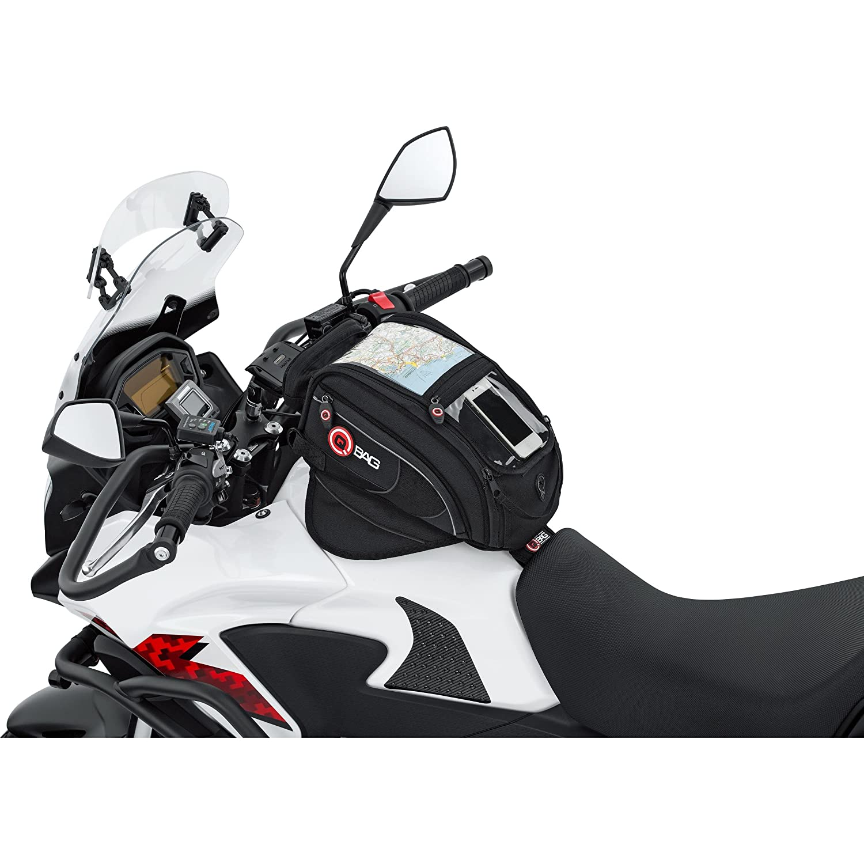 QBag 08Sacoche aimanté à Placer sur réservoir de Moto Noir