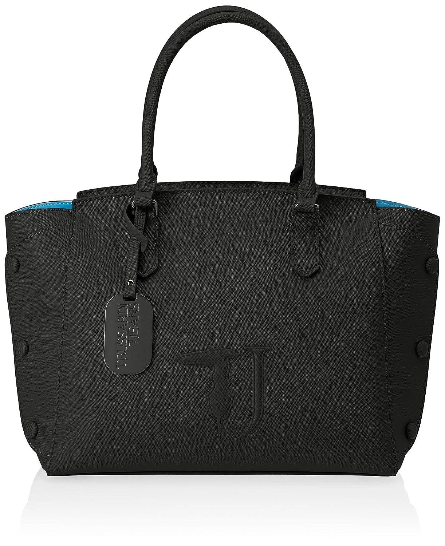 black (Black on Tone) Trussardi Jeans Women's 75b004519y099999 Tote Bag