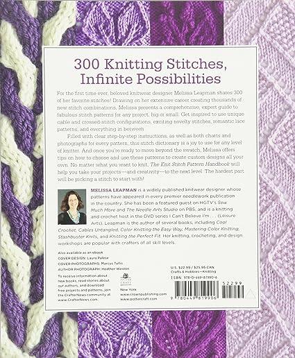 Amazon The Knit Stitch Pattern Handbook An Of 300 Designer