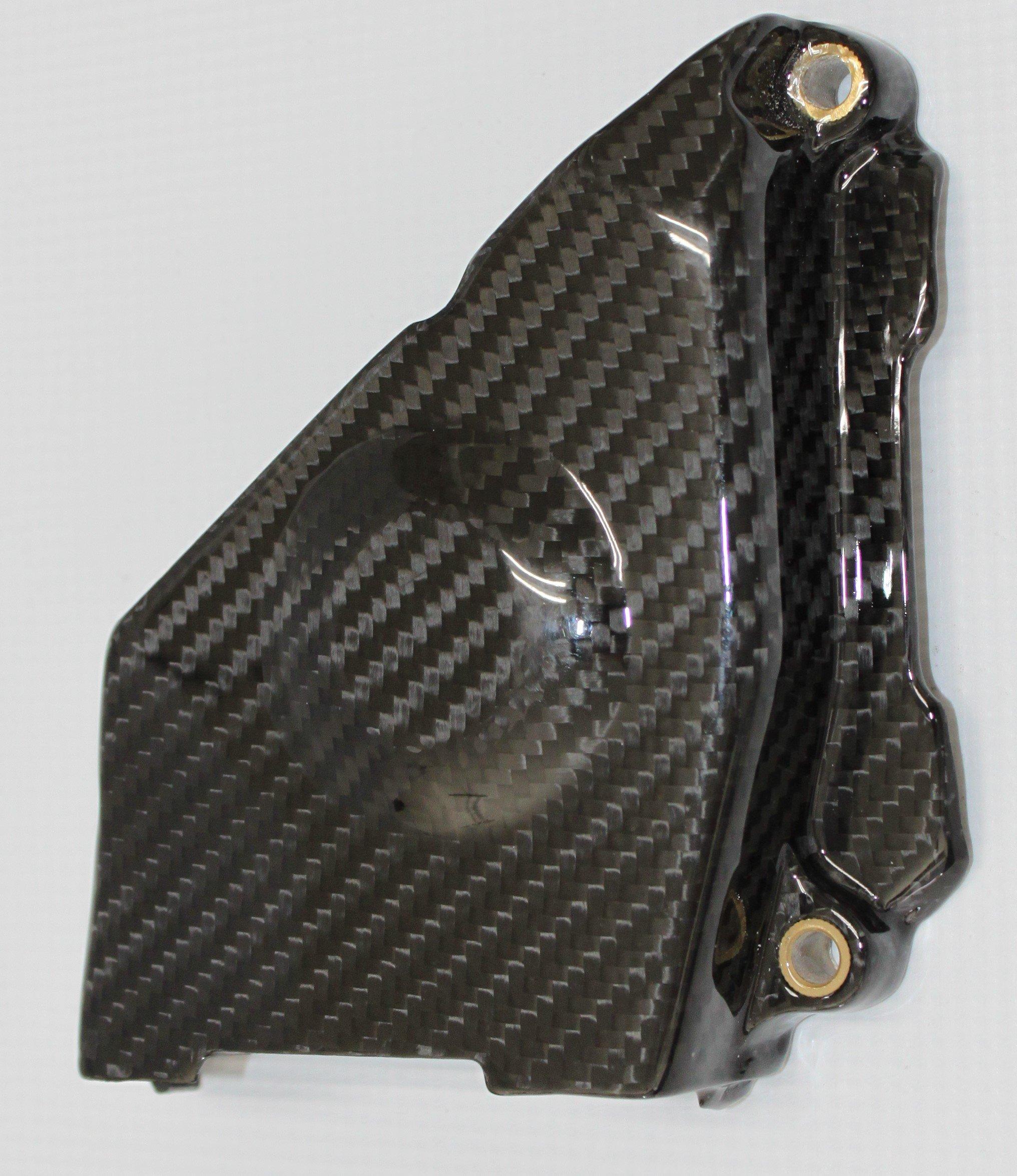 Carbon Fiber Racing, D7D116CFFG, Carbon Fiber / Fiberglass Ducati 749 999 Middle Belt Cover with Brass Inserts