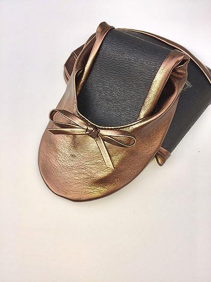 European - Pack de 10 Bailarinas de Boda, Mujer, Color Bronce Ocre, Talla M EU (36,37,38): Amazon.es: Zapatos y complementos