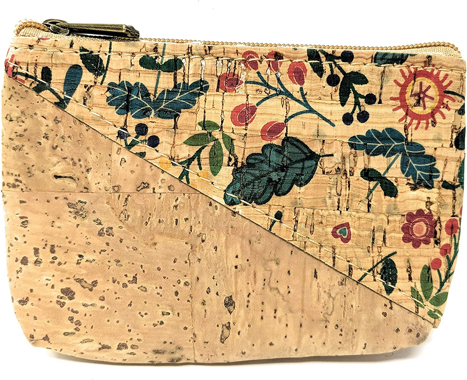 Cork Coin Pouch Change Purse for Women [2-Pack] - Handmade in Portugal - Vegan & PETA-Approved