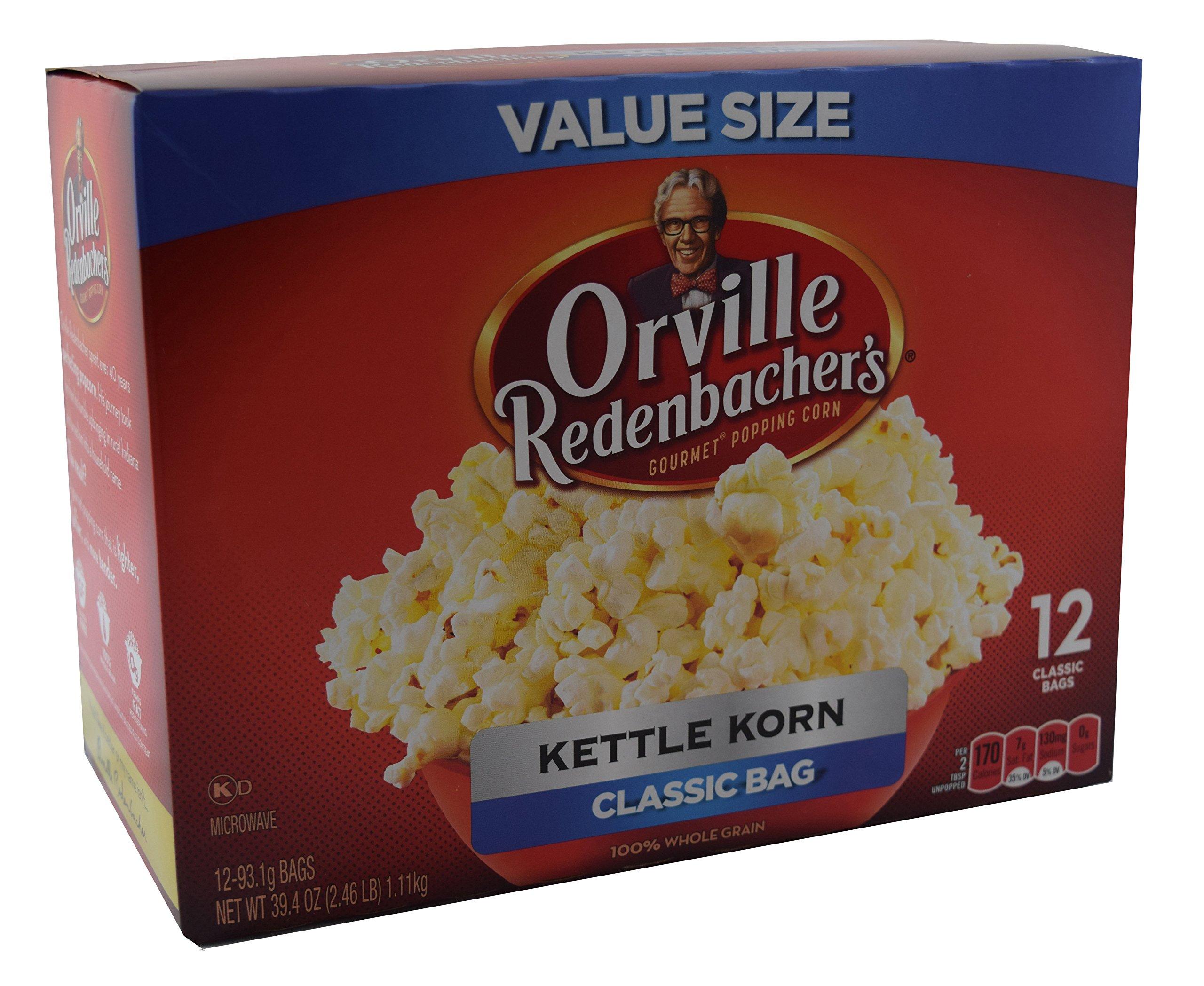 Orville Redenbachers Kettle Korn Classic Bag, 12-Count Box by Orville Redenbacher's