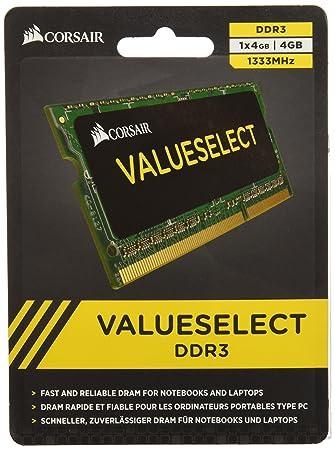 Corsair CMSO4GX3M1A1333C9 4GB (1x4GB) DDR3 1333 MHz (PC3 10666) Laptop  Memory 1 5V