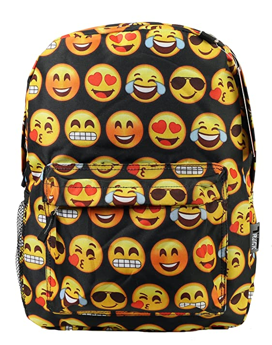 Emoji Canvas Backpack Casual Bag