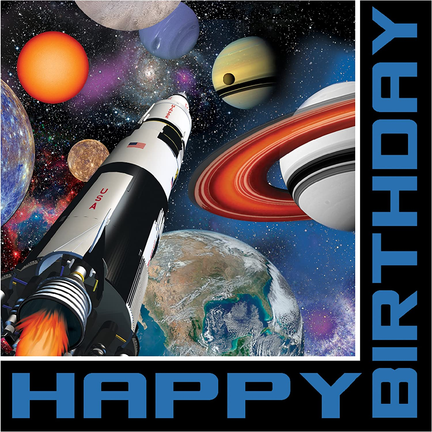 Creative Converting Space Birthday Paper Luncheon Napkins