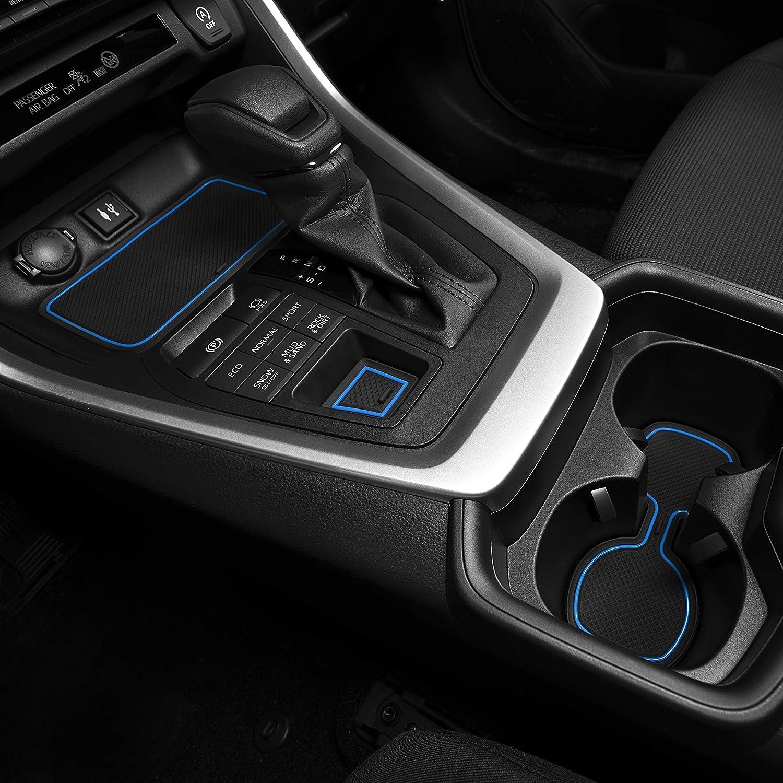 Premium Cup Holder Console and Door Pocket Inserts 13-pc Set CupHolderHero for Toyota RAV4 2019-2020 Custom Liner Accessories White Trim