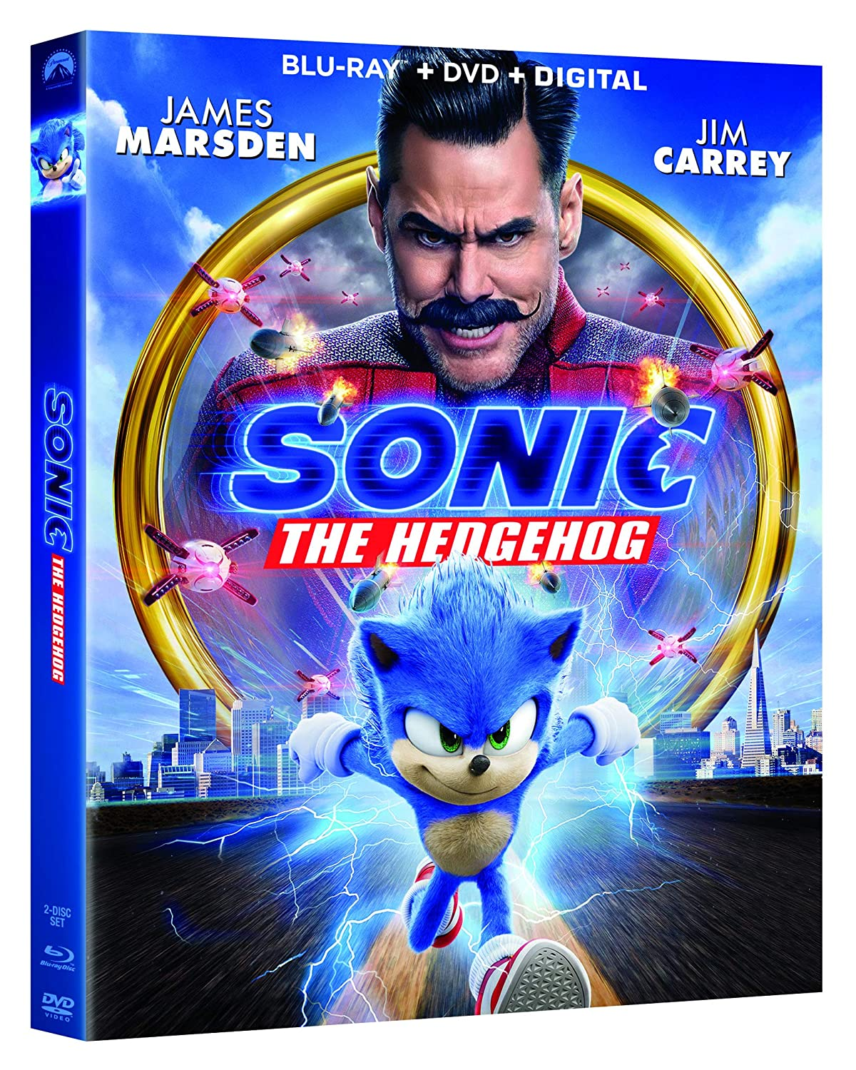 Amazon Com Sonic The Hedgehog Blu Ray James Marsden Jim