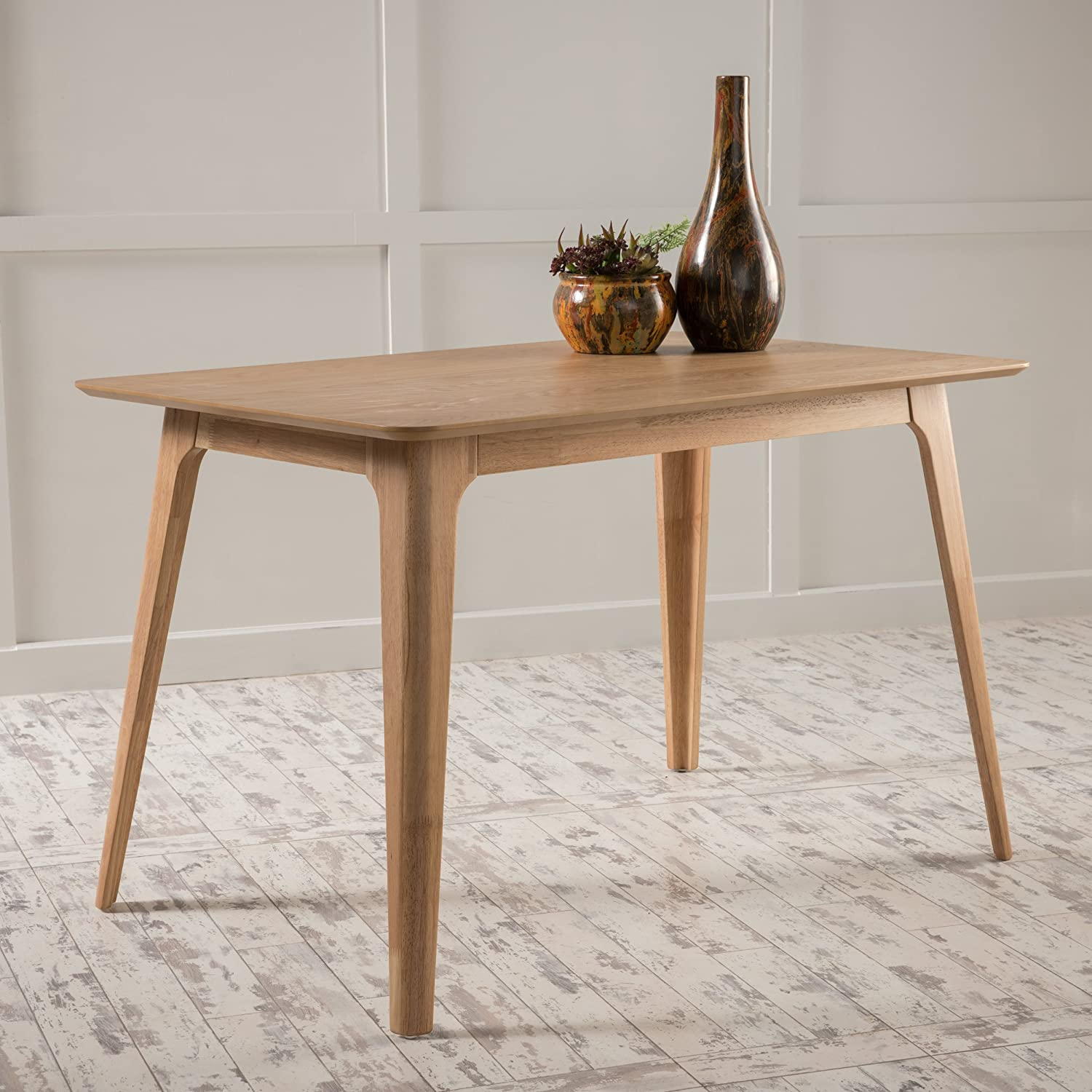 Amazon com elsinore natural oak finish wood dining table tables