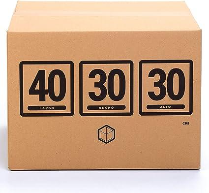 TeleCajas (10x) Lote 10 Cajas Cartón Reforzado (40x30x30 cms) | Con asas. Una Onda. 100% Reciclables: Amazon.es: Oficina y papelería