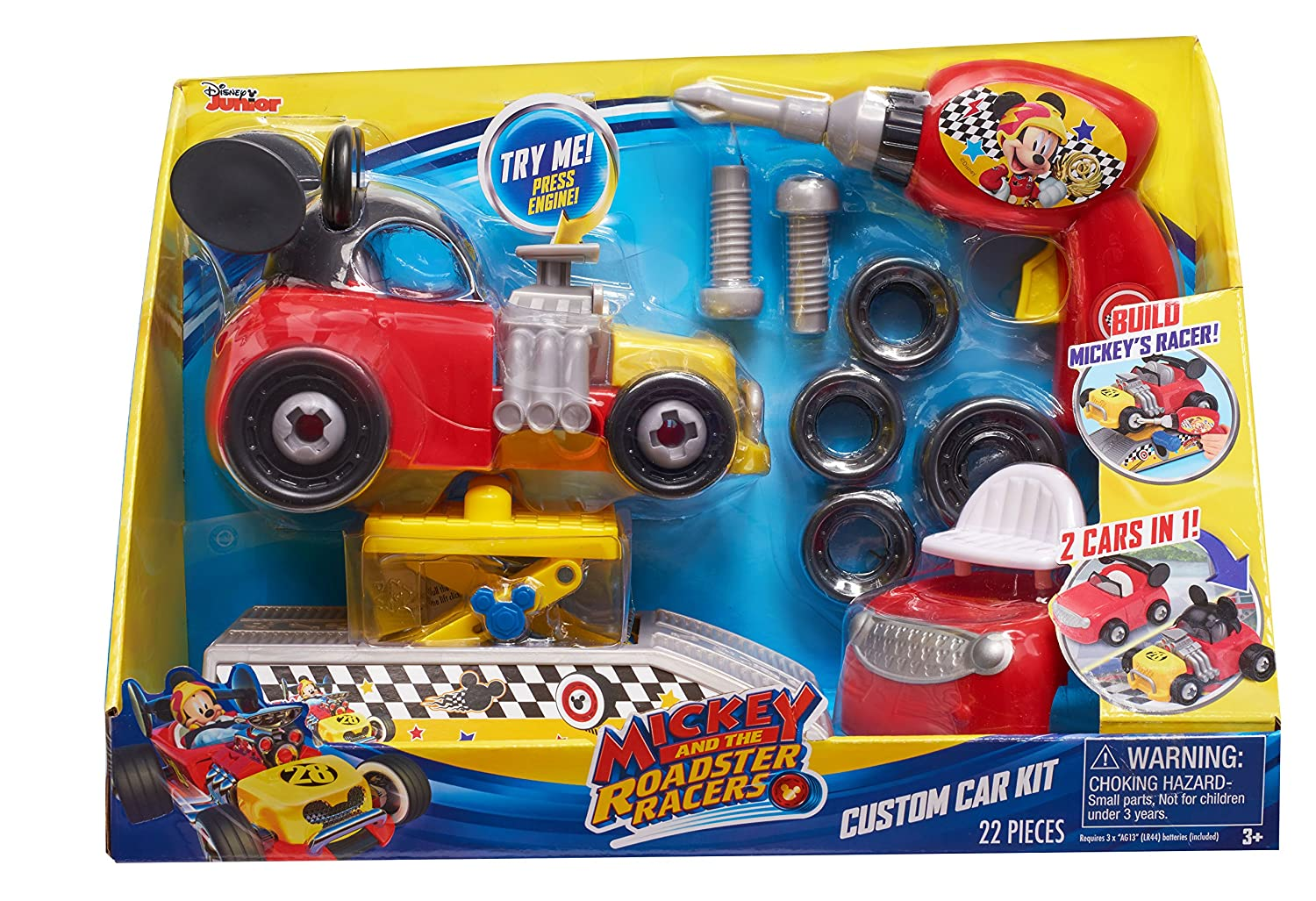 MICKEY ROADSTERS 38266 Racers Custom Car Kit Just Play - Import