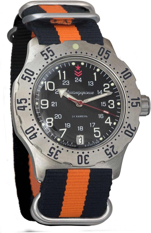 Vostok Komandirskie K-35 Reloj de pulsera militar mecánico automático para hombre #350751