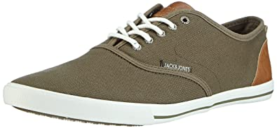 N Olive Canvas Jack Jjspider Sneaker Urban Jones amp; Chaussons q4wSUg4