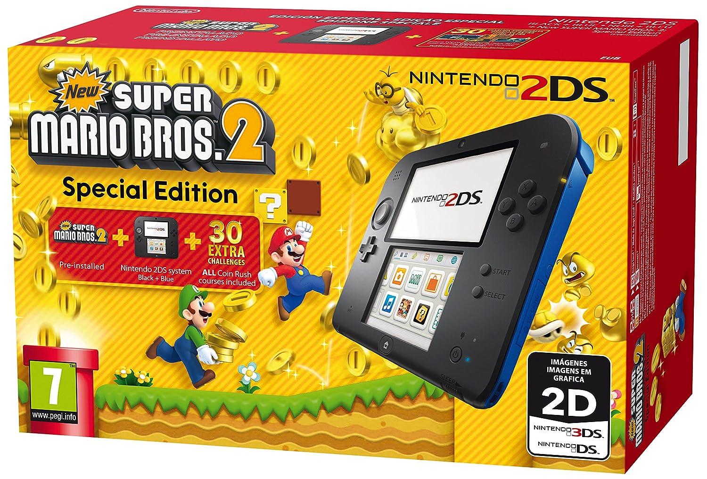Nintendo 2DS: Console, Nero/Blu + Super Mario Bros 2 [Bundle ...