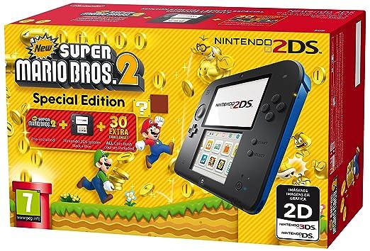 228 opinioni per Nintendo 2DS Console, Nero/Blu + Super Mario Bros 2 [Bundle Special Edition]