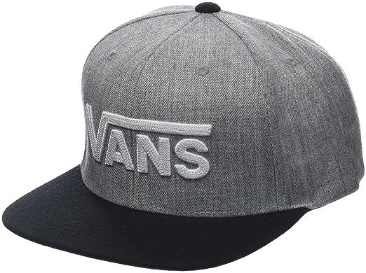 Vans_Apparel Herren Drop V II Snapback Baseball Cap, Grau