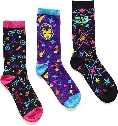Funko Stranger Things Palace Arcade- 3 Pack Crew Socks Standard: Amazon.es: Ropa y accesorios