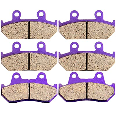 ECCPP Front and Rear Carbon Fiber Brake Pads for Honda GL 1500 Goldwing 1500 SE L 1988-2000: Automotive