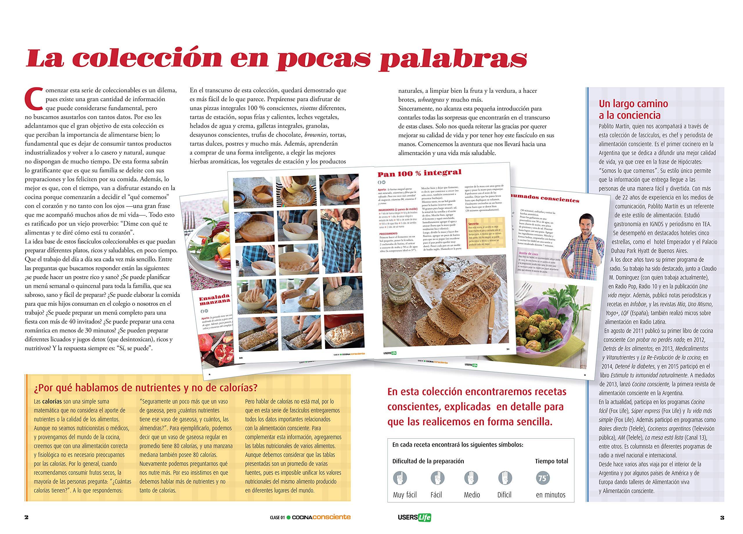 Cocina Consciente - Comer sano, sentirse bien (Spanish Edition): Pablo Martín, USERSLife: 9772424517815: Amazon.com: Books