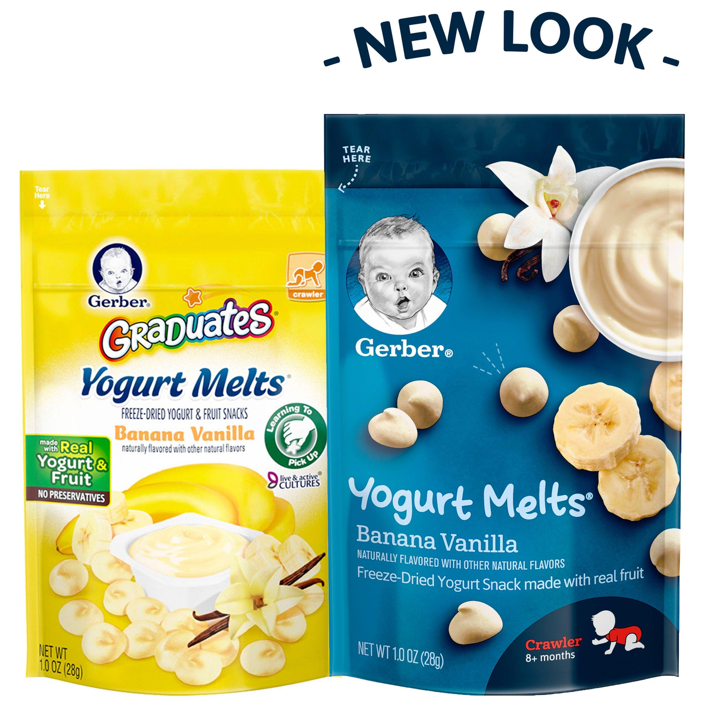 Gerber Yogurt Melts Freeze-Dried Yogurt Snack made with real fruit, Banana Vanilla, 1 oz (Pack of 7) by Gerber Graduates (Image #4)
