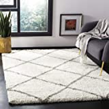 Generic Carpets Handwoven Shaggy Modern Carpet with 2 inch Thickness Modern and Luxuries Design (5 X 8)