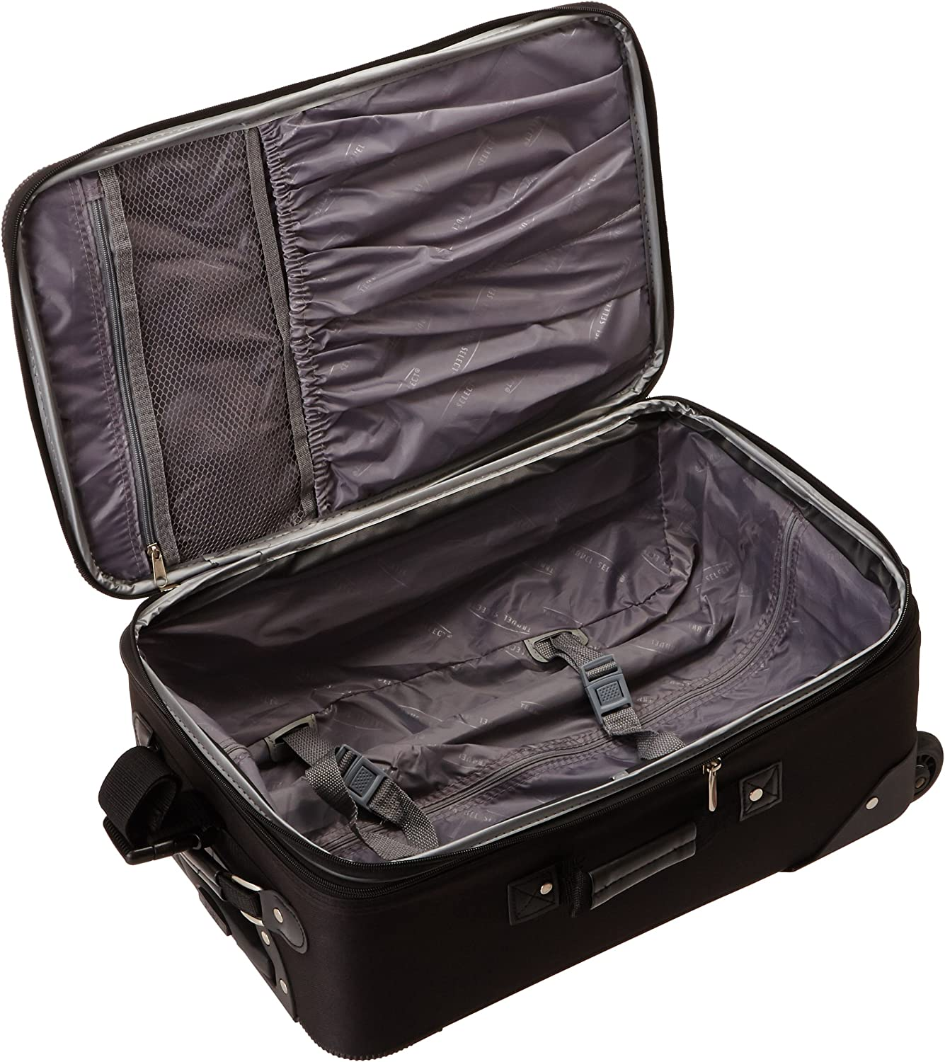 Travel Select Amsterdam Expandable Rolling Upright Luggage Set 2-Piece Navy